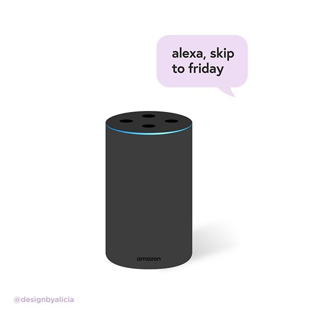 happy hump day y'all . . . . . . inspired by @thehayleycakes #graphicdesigner #commissionsopen #illustratorsoninstagram #illustratorsofinstagram #alexa #heyalexa #amazonecho #amazonalexa #flatillustration #pentool #womenillustrators #design #graphicdesign #humpday #mood #illustragram #illustrationdaily #illustrator #illustration_daily