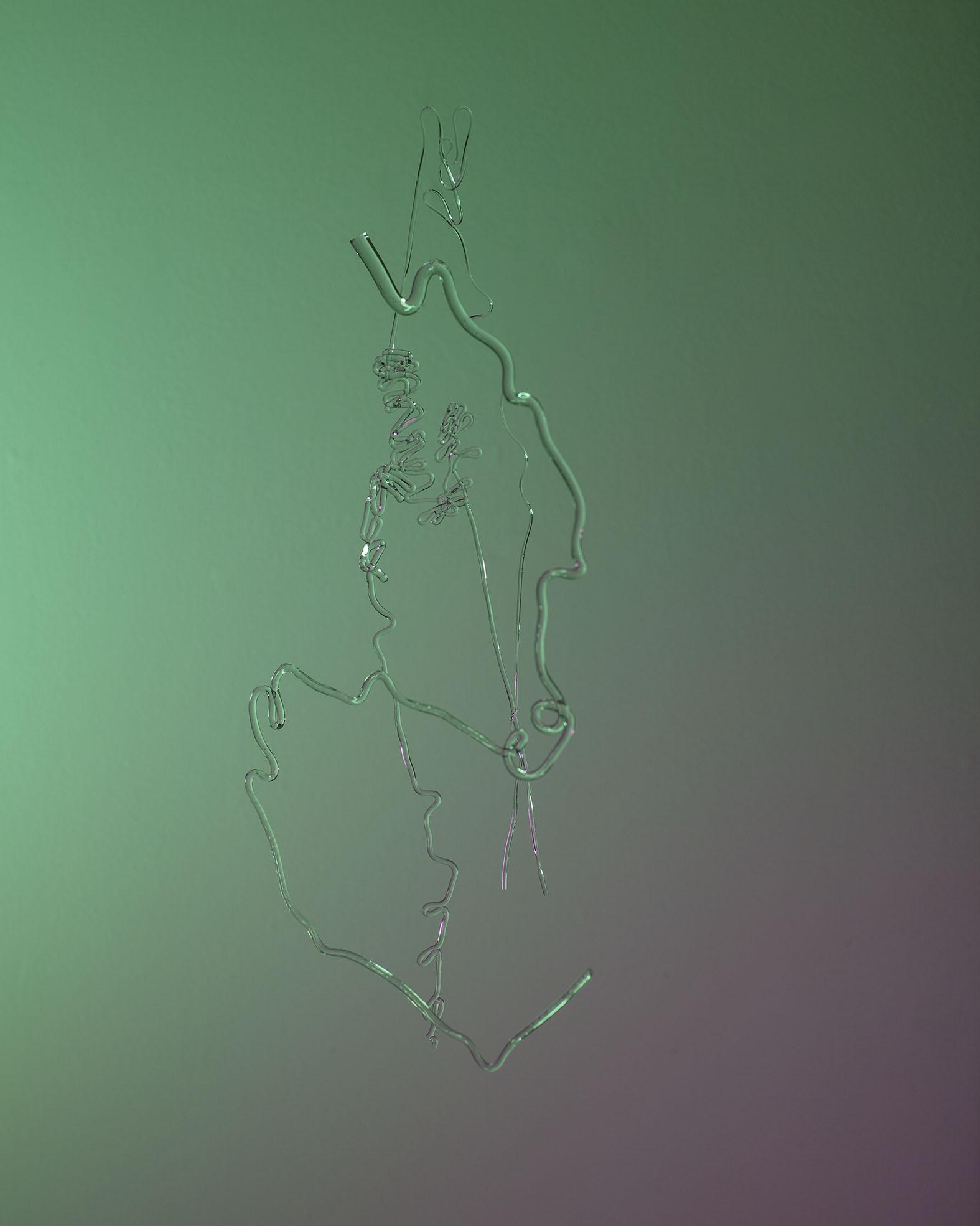 """Glass Drawing VIII , 2018, archival pigment inkjet print 24"""" x 30"""""""