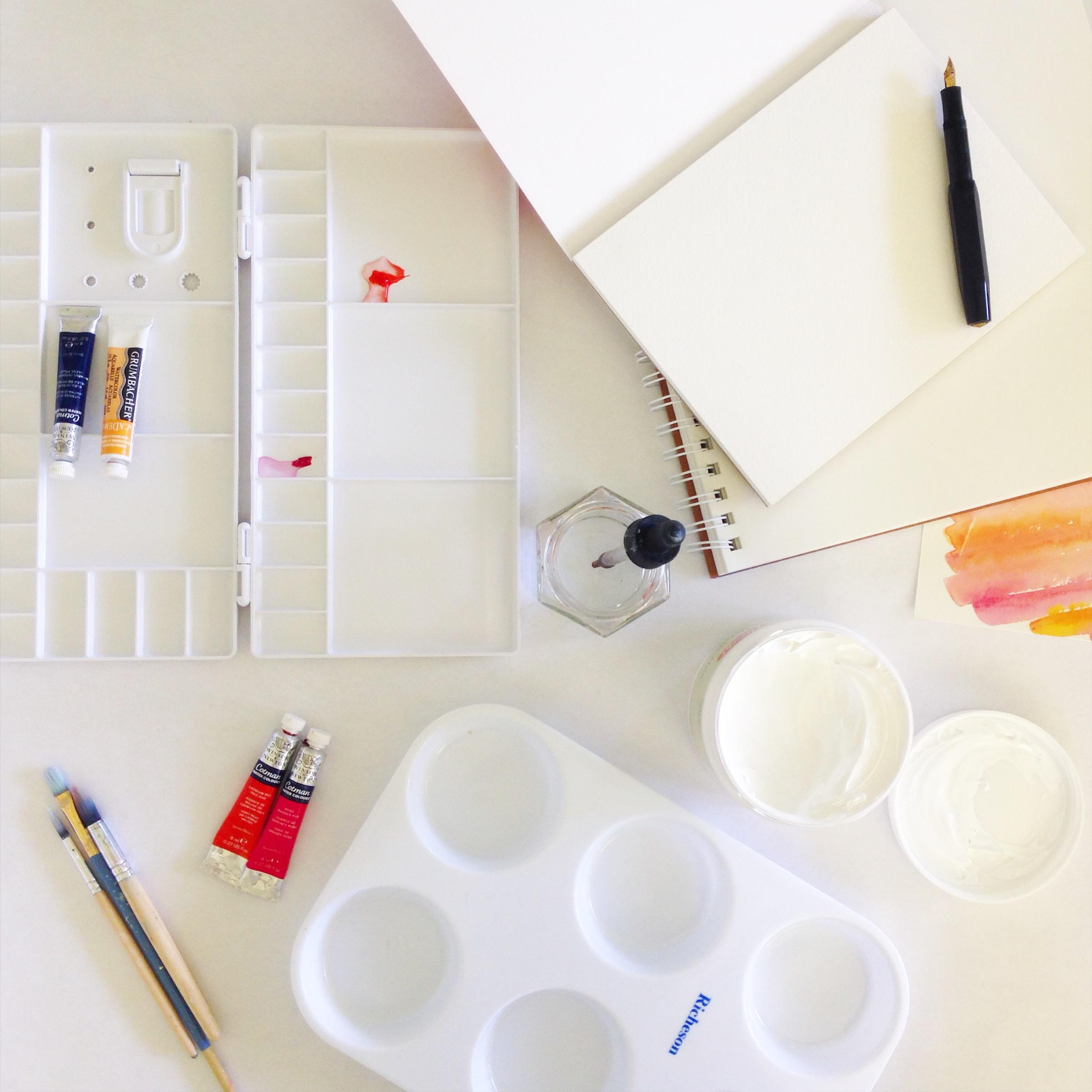 watercolor art studio