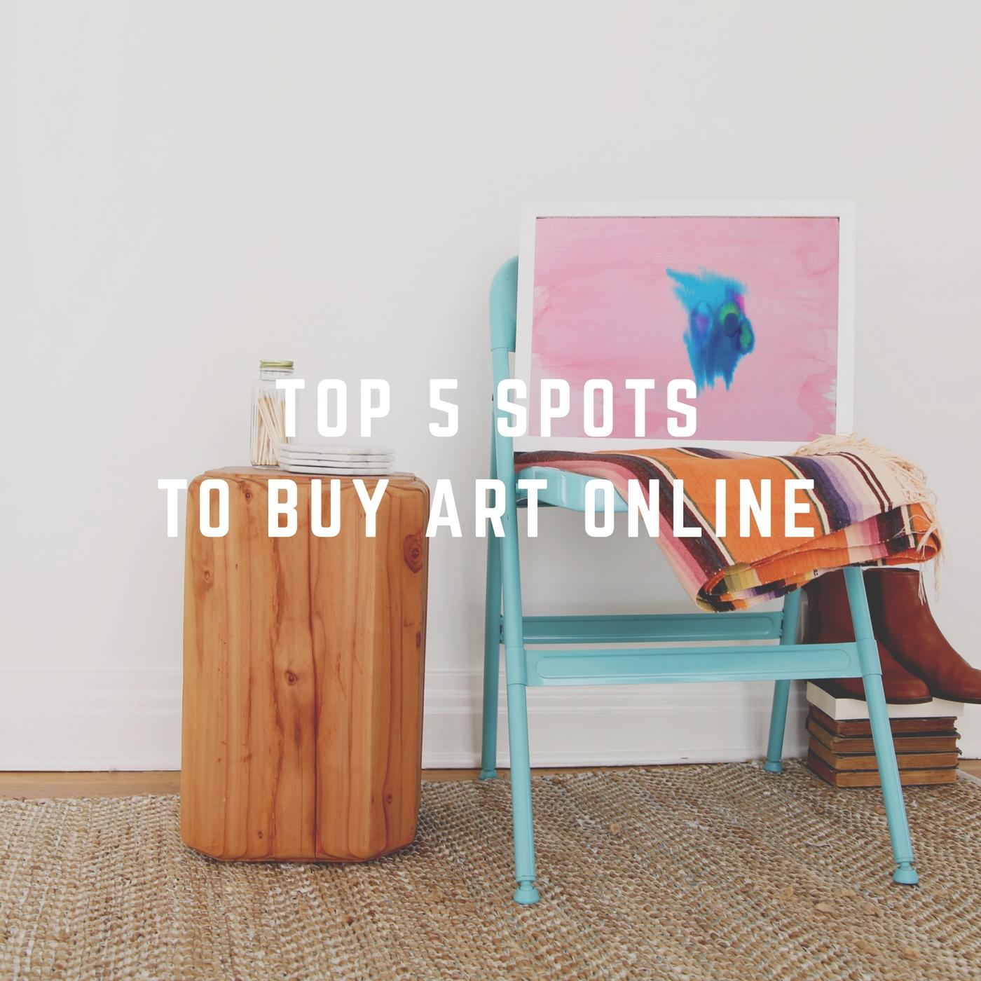top 5 spots to buy art online
