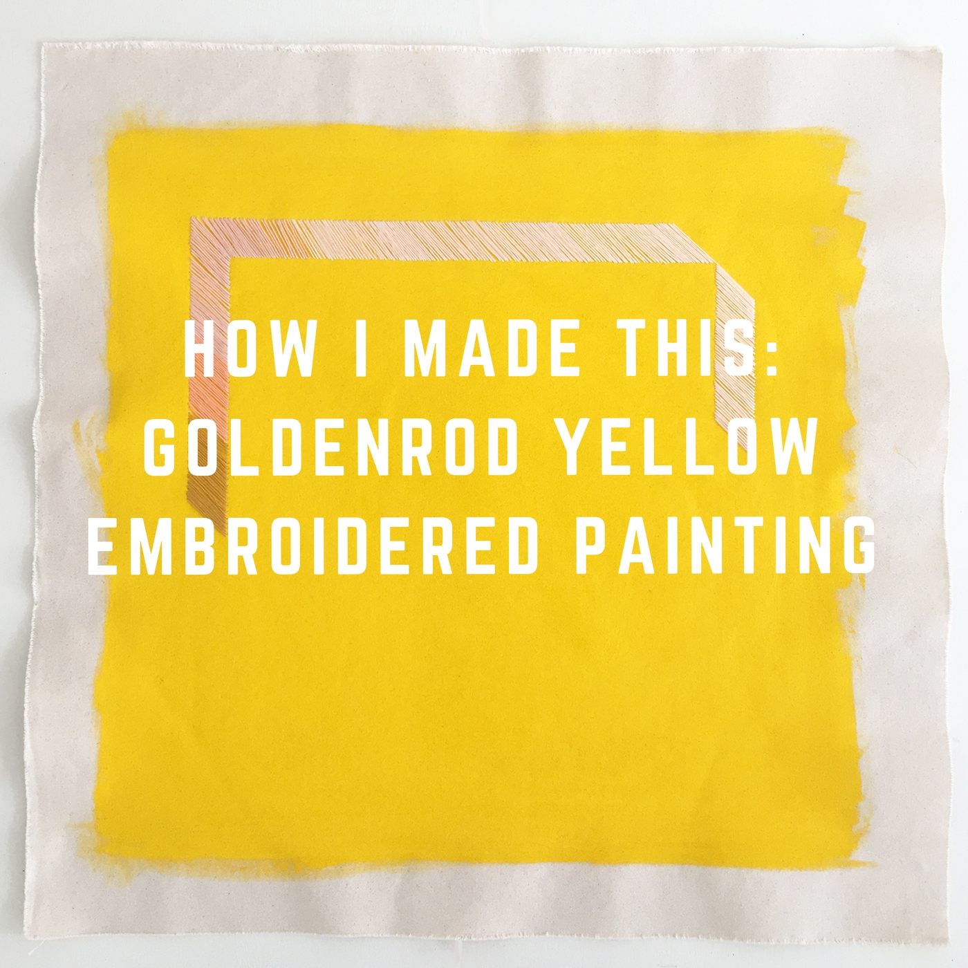 goldenrod yellow abstract art