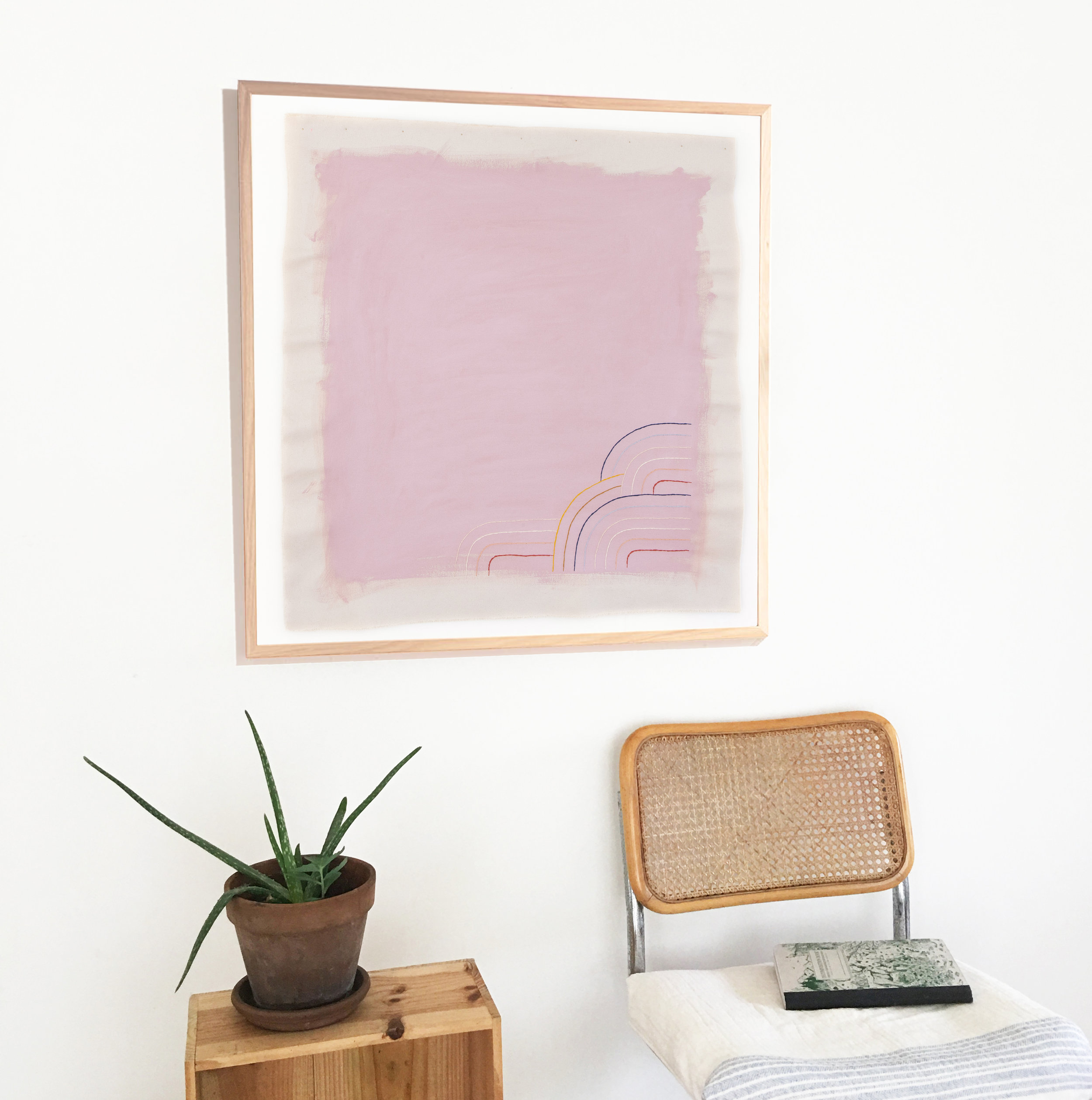 Light purple art print
