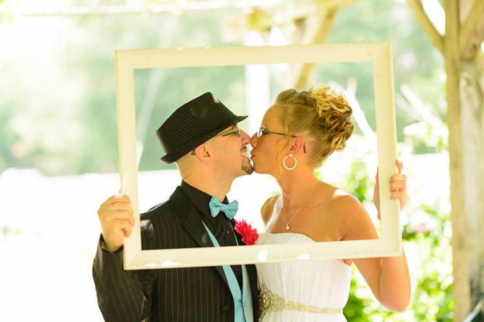 Example wedding photo taken in Shanklin Park in Goshen, Indiana