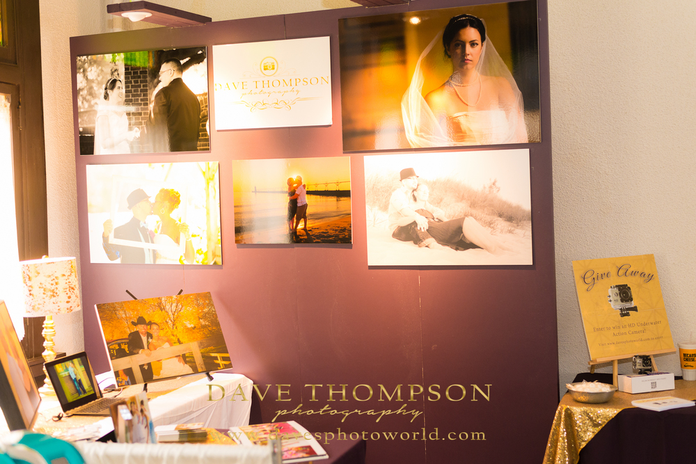 My photography booth displaying images and products for sale by Dave Thompson Photography
