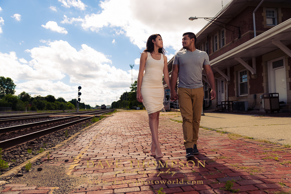 Amtrak Train Station (Elkhart) - There is an awesome brick train station in downtown Elkhart that is really fascinating to shoot an engagement or couples session at. Parked there is also an amazing old train that you can climb into. This is a perfect venue to do a stylized shoot - 1920's suit and suspenders for him and a long formal dress for her! Dapper couple departing on a freight train!