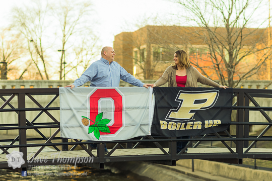 East Race Waterway (South Bend) - If you're looking for an urban/contemporary feel for you engagement session, this is a fantastic spot. I'll often pair this location with a downtown South Bend shoot, as it adds variety to the photo shoot. Some of the attractive elements here include steel bridges, sitting benches,whitewater rapids, long concrete pathways and brick buildings to add interest.