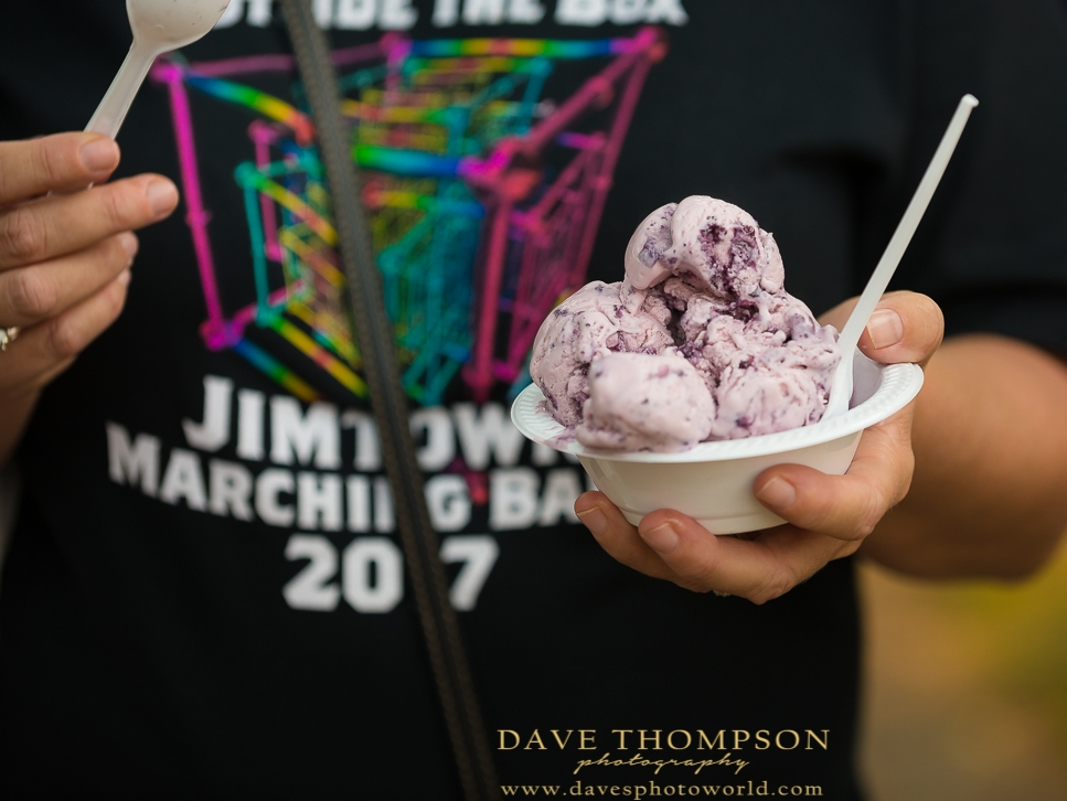 Blueberry Ice Cream!  - Everything is blueberry at the Blueberry Festival!  Ice cream, donuts, shakes, pies, you name it!