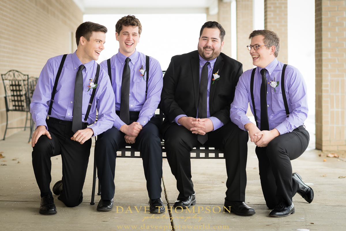 What a great group of groomsmen!