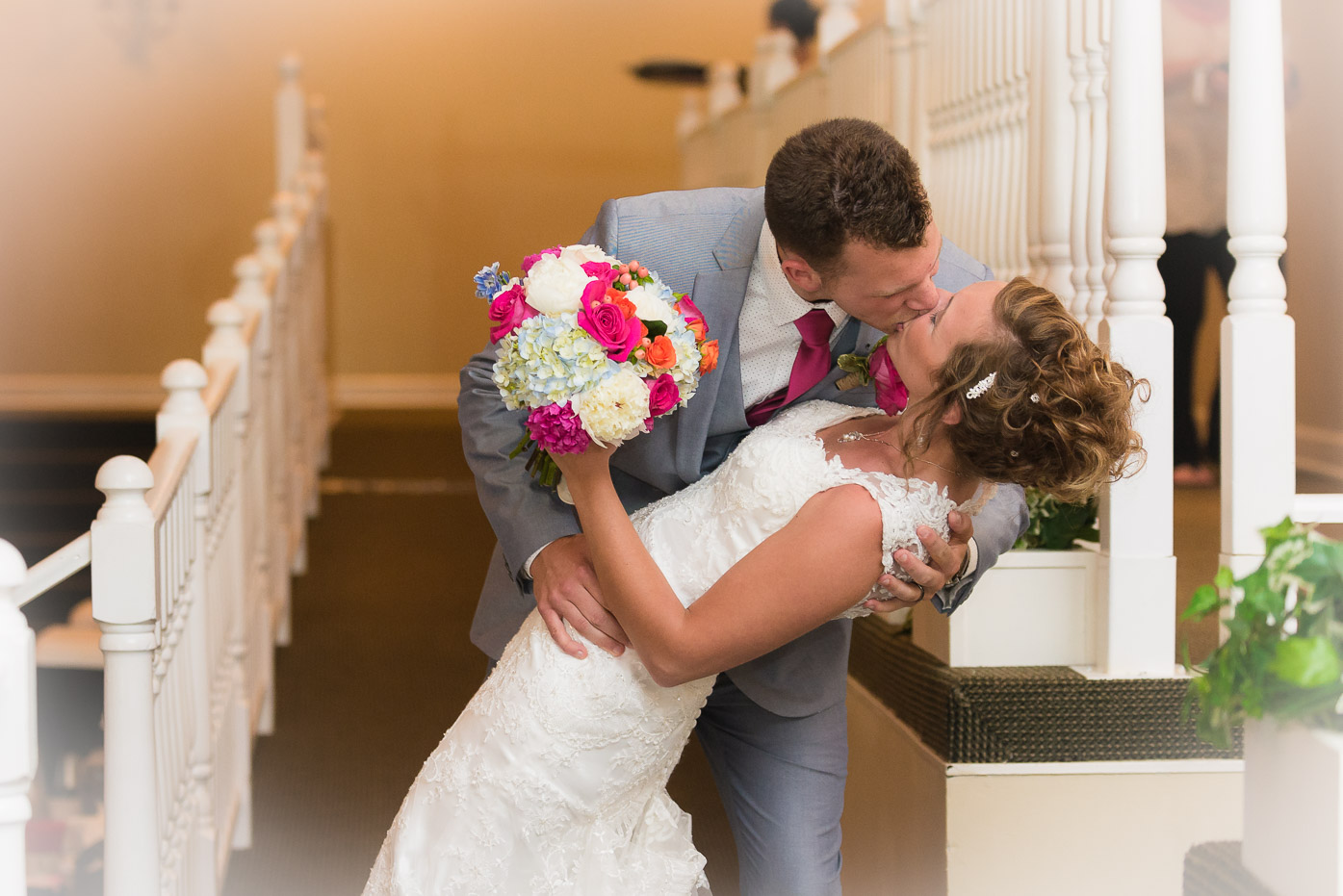 Brides First Kiss at Reception