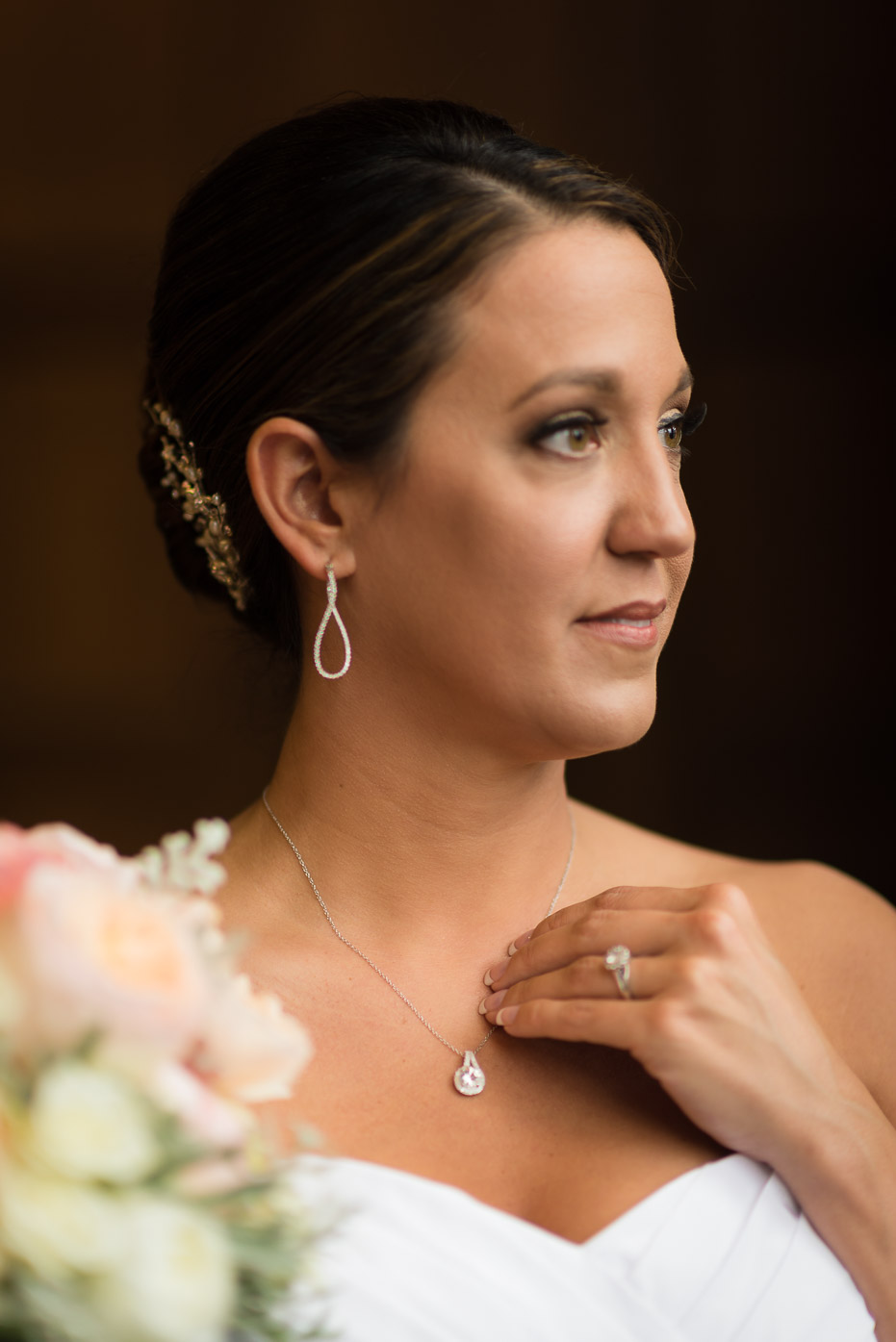 Natural Light portrait of bride on her wedding day
