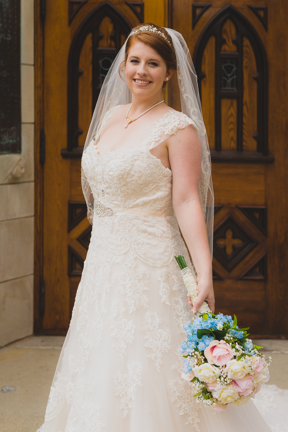 Bride with Vail