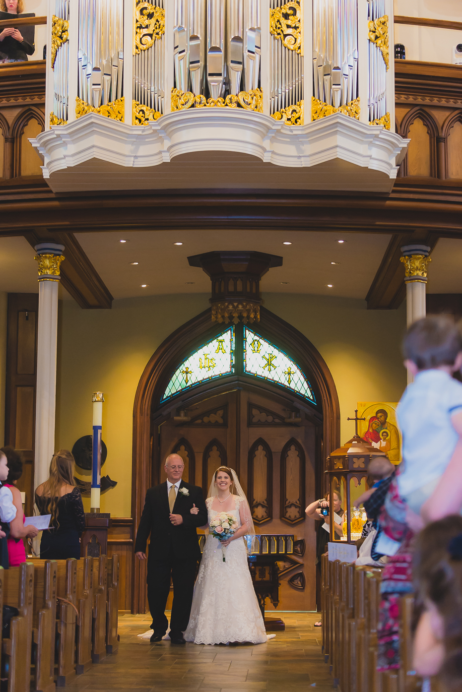 Bride and Dad at Basilica