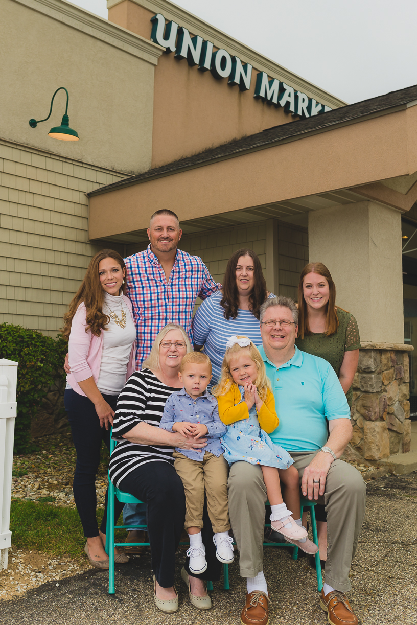 Family group photo general store