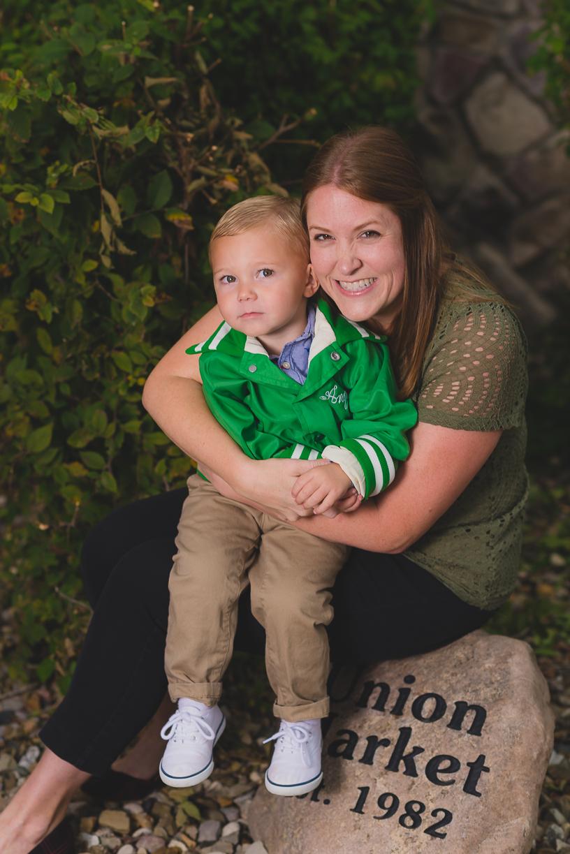 Nephew and aunt happy