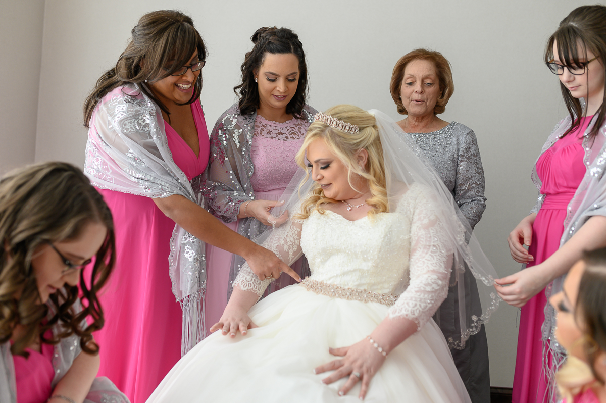 Bride Getting Ready with Family taken by local South Bend Photographer