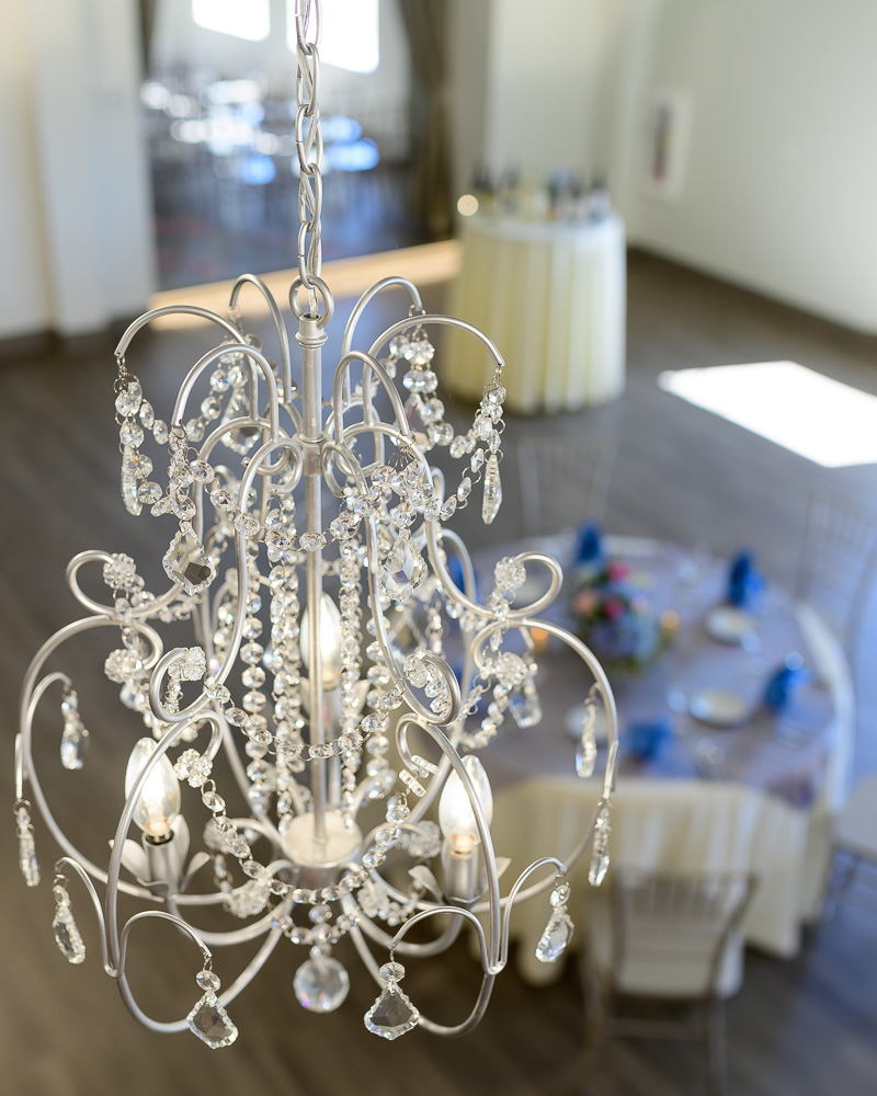 Crystal chandelier wedding venue