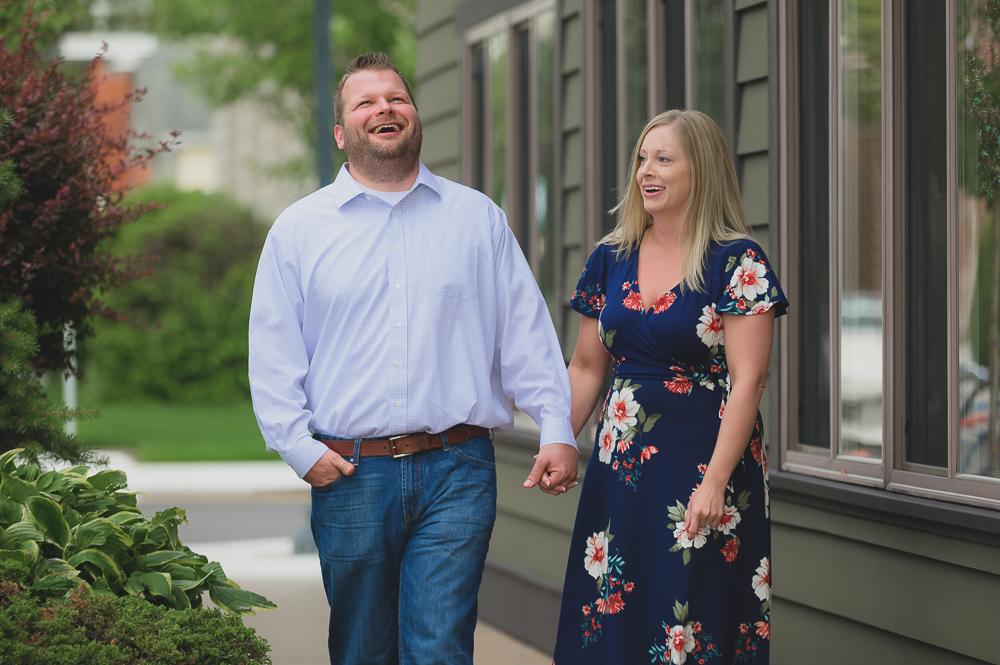 Laughing & Dancing during Engagement Photos