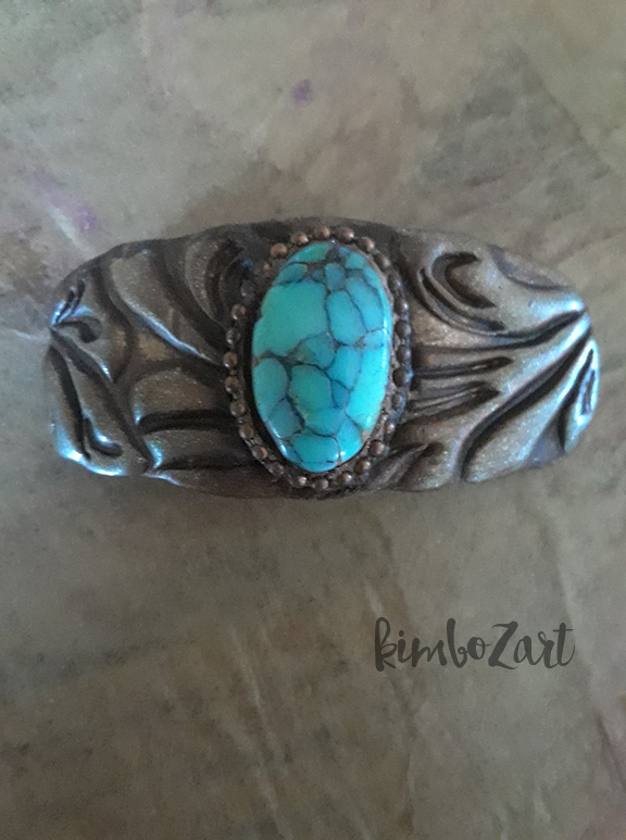 Variscite Tooled Leather Bracelet Bar.jpg