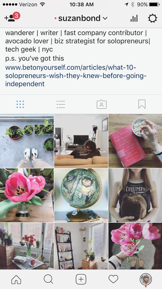 My latest  Instagram  mini bio.
