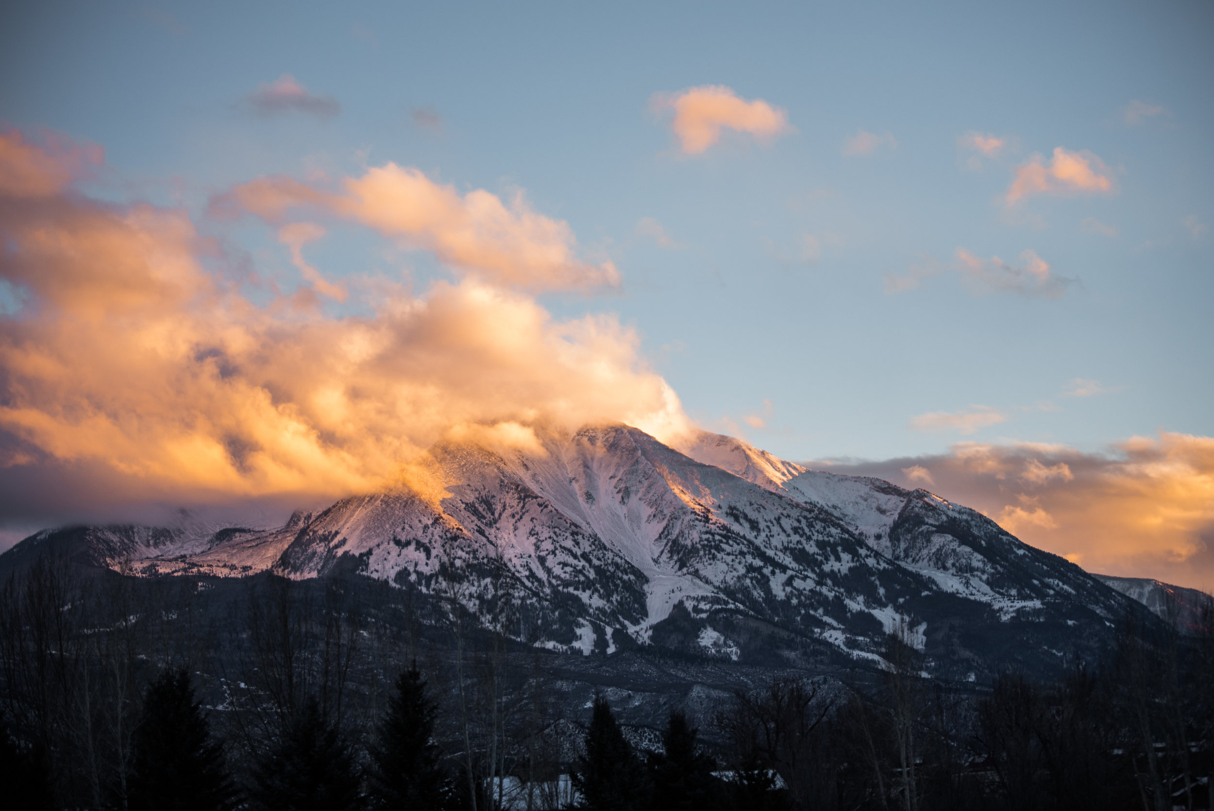 Mount Sopris at Sunset