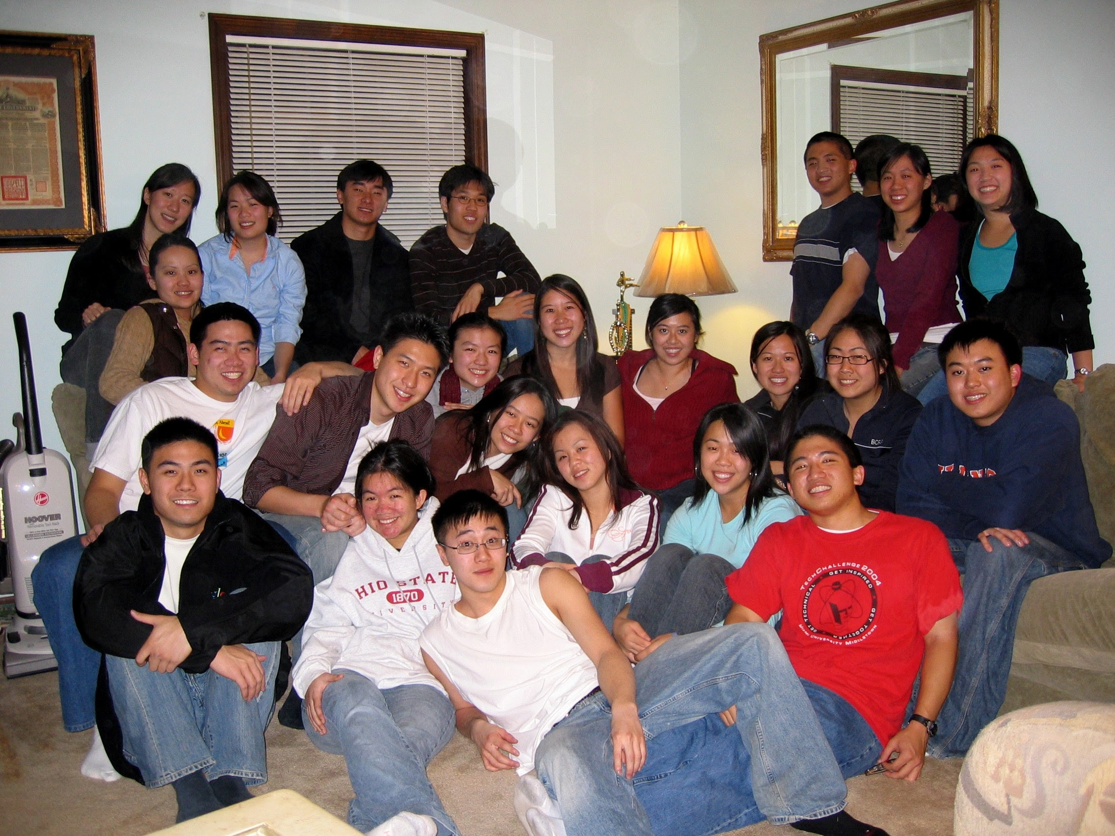 As we got older, we often gathered NOT in the basement.
