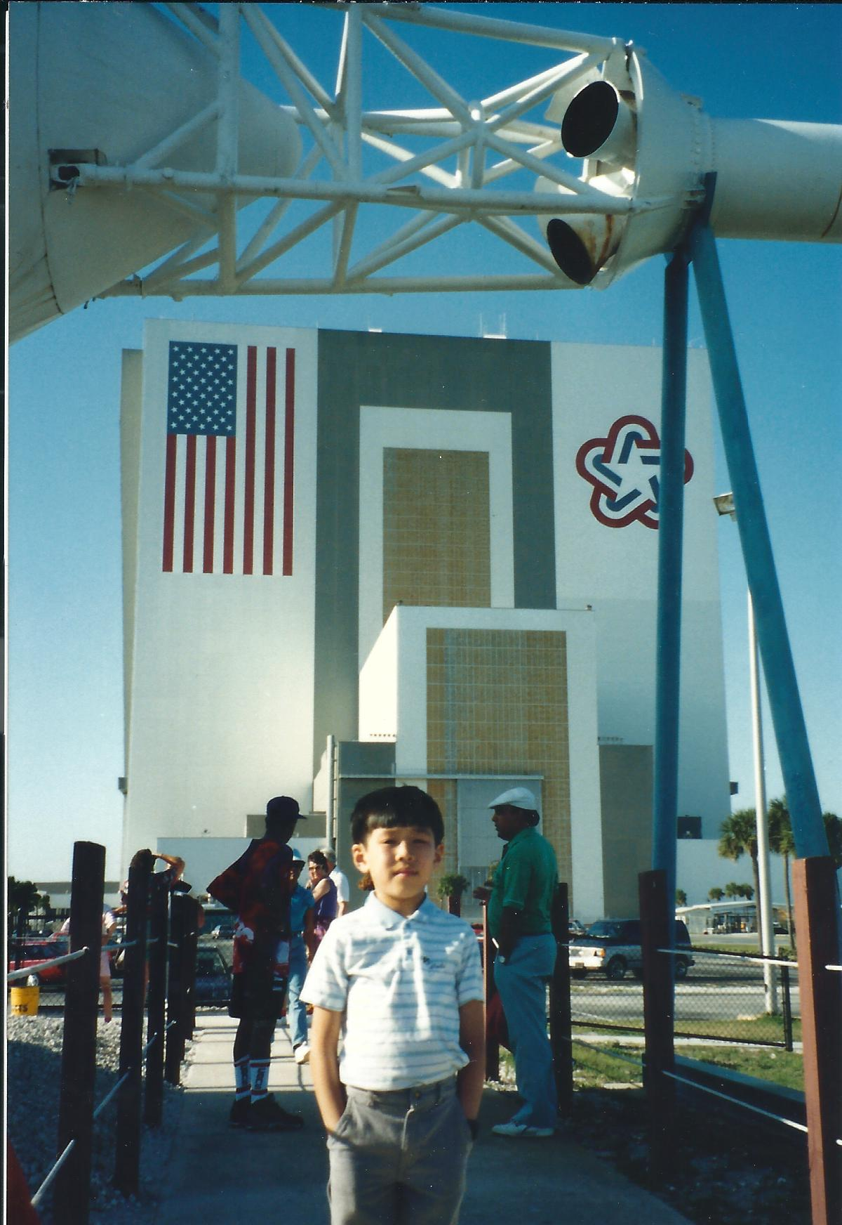 A proud young American.