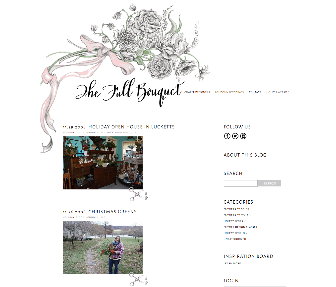 Original Posts from the Full Bouquet Blog, 2008.