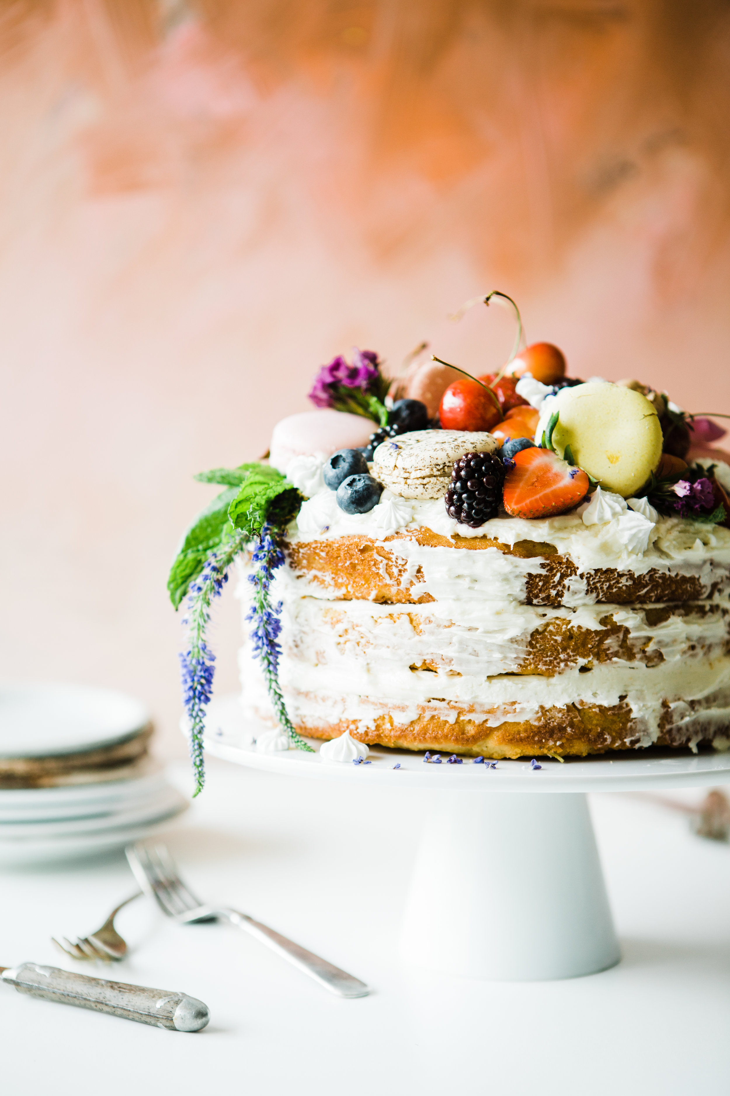 How to Cook Like a Food Stylist: Ricotta and Olive Oil Naked Cake - Brooke Lark