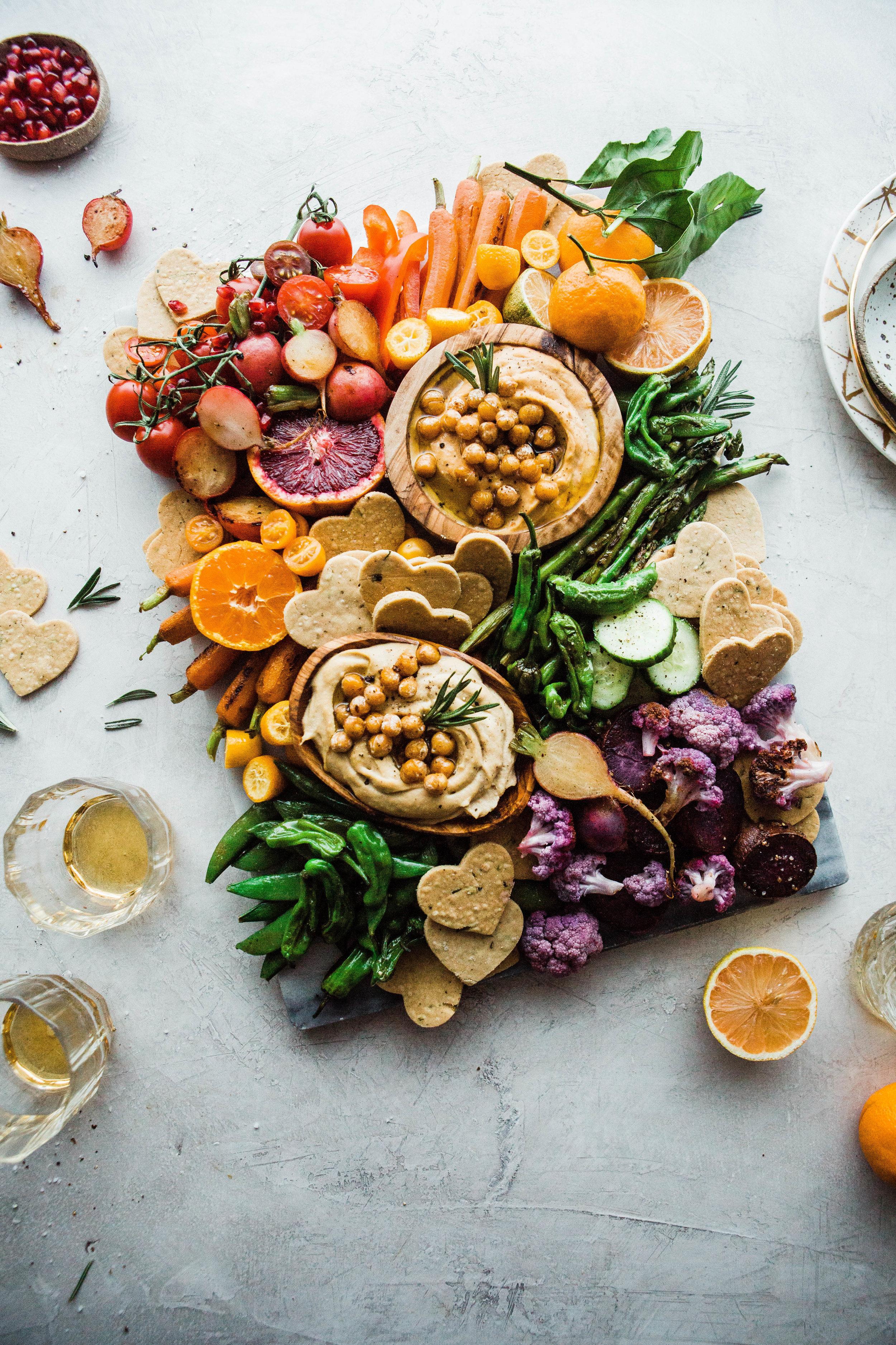 2019-01 BRM Homemade Paleo Rosemary Crackers with Cassava and Rainbow Veggie Platter 2 7F.jpg