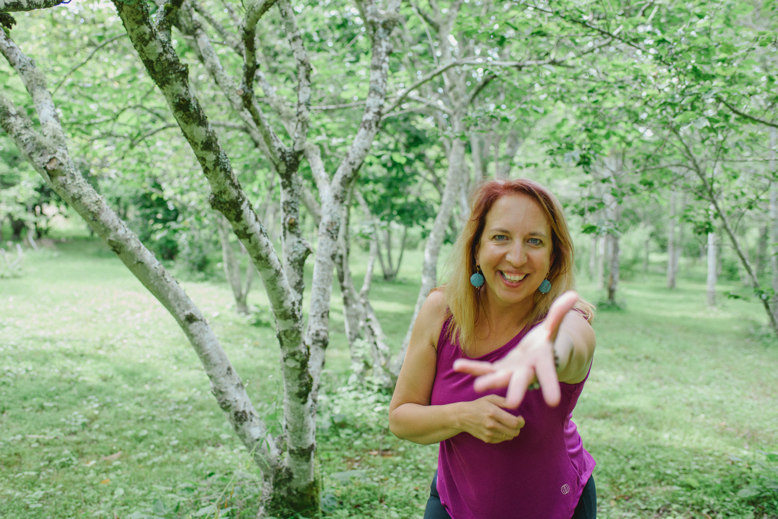 I am a visionary, healer, community builder and entrepreneur. My Nia training is deeply woven into my understanding of how moving our bodies can create healing, joy, wellbeing and connection to the thread of life. Nia inspires me to show up in my entirety, in my mind, my body and my spirit. Teaching Nia is a great gift to me. When I witness people coming home to their bodies and stepping into a bigger life that welcomes joy and authenticity, I am delighted. I can't wait to see you on the dance floor.