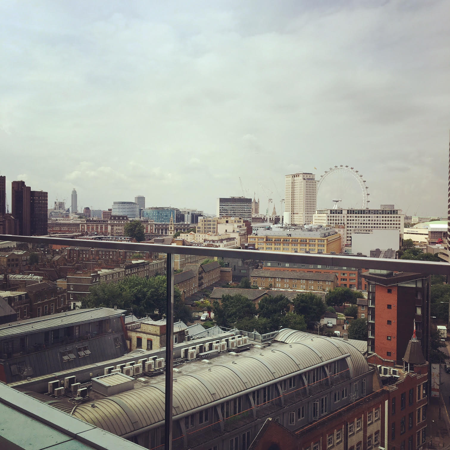 The view from WeWork South Bank