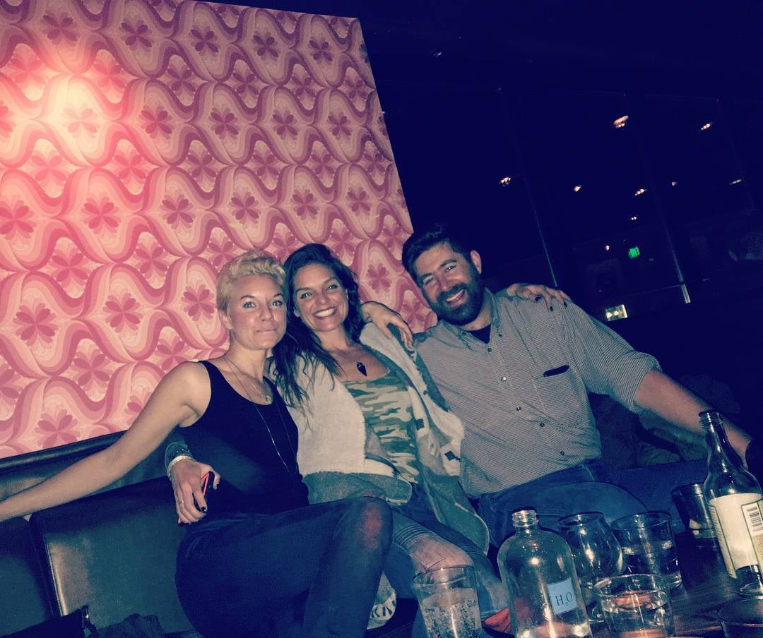 Left to right: Me, my beautiful sister, and her husband at  Linger  in Denver.