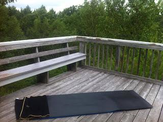 Where I like to practice my yoga