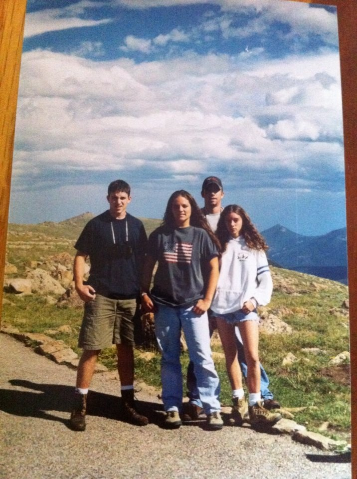 My siblings and I, me, far right