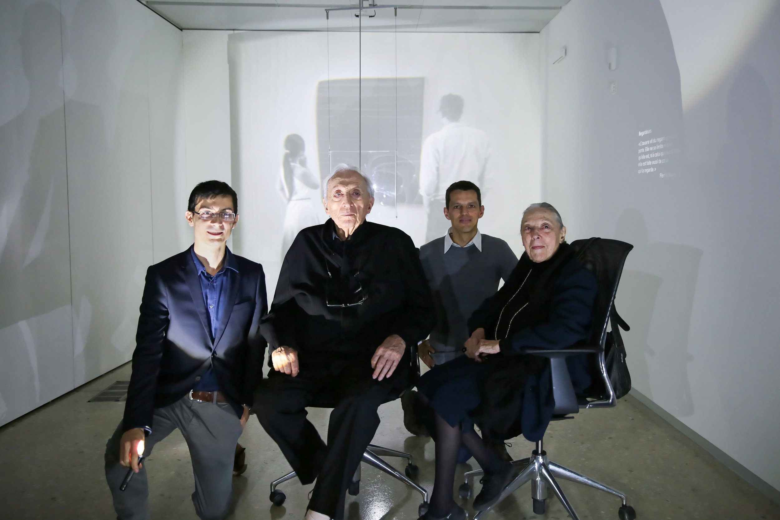 Visite of Pierre and Colette Soulages