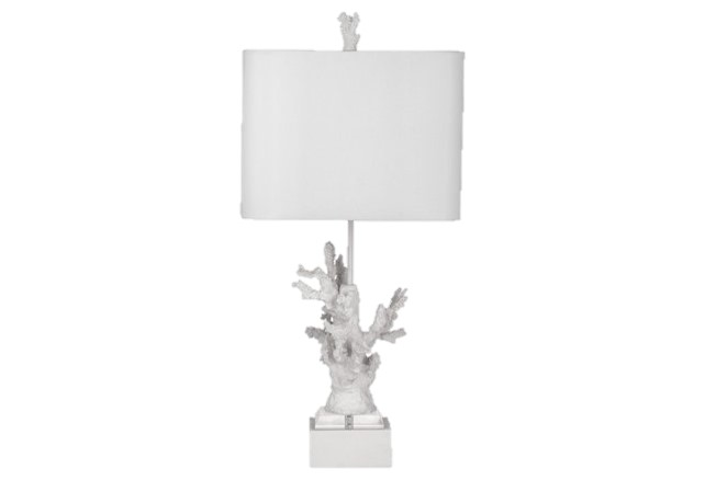 Coral and Marble lamp from One Kings Lane