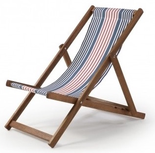 Stripe Canvas Deckchair -  Design Vintage
