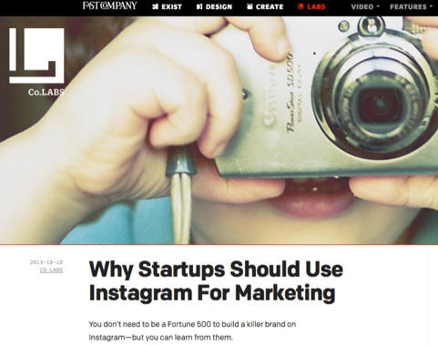 How startups can use Instagram for social media