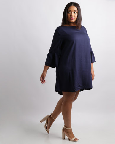 Utopia Plus Tunic Dress With Bell Sleeve Navy Dresses Women Casual Dresses ZKIOJE_2.jpg