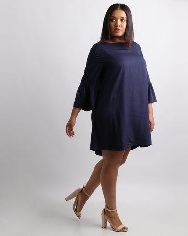 Utopia mais vestido de túnica com sino manga marinha vestidos mulheres vestidos casuais ZKIOJE_2.jpg