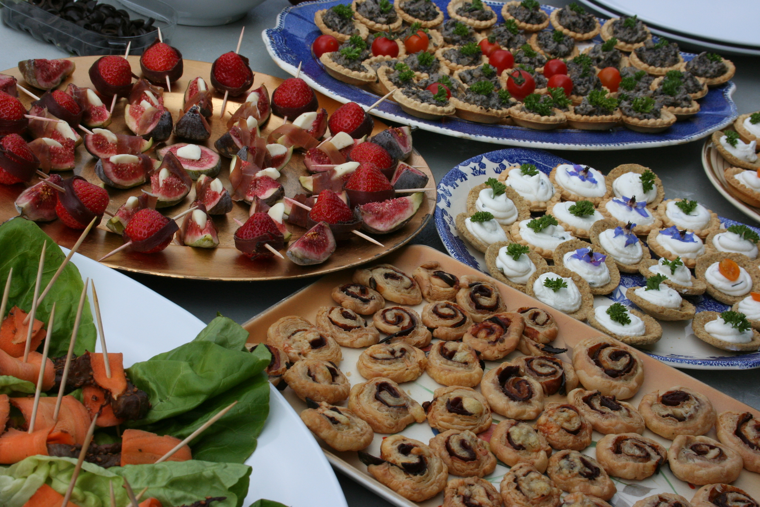 Canapes from The  Peasant Evolution Co-operative
