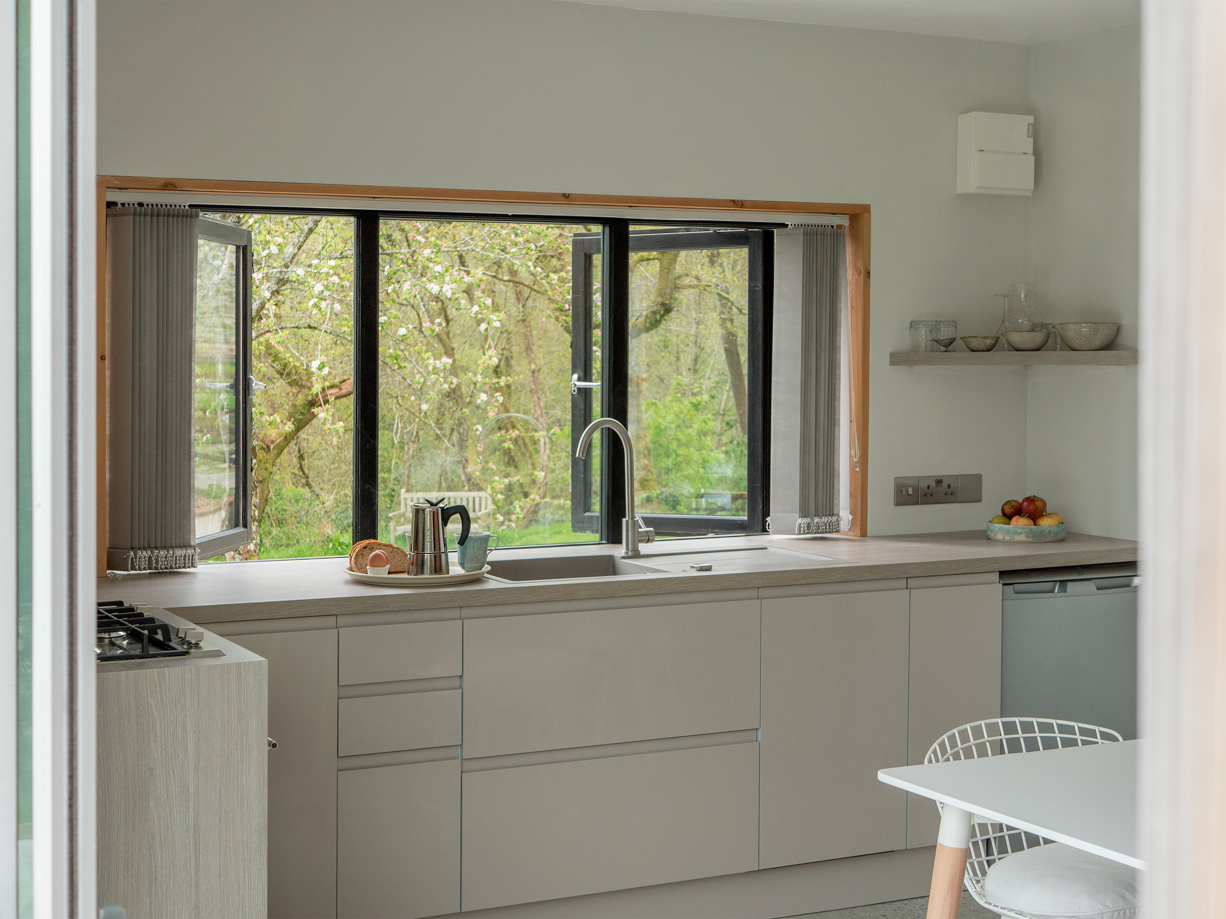 The Kitchen has a gas oven and hob, great for cooking up a feast of local produce.