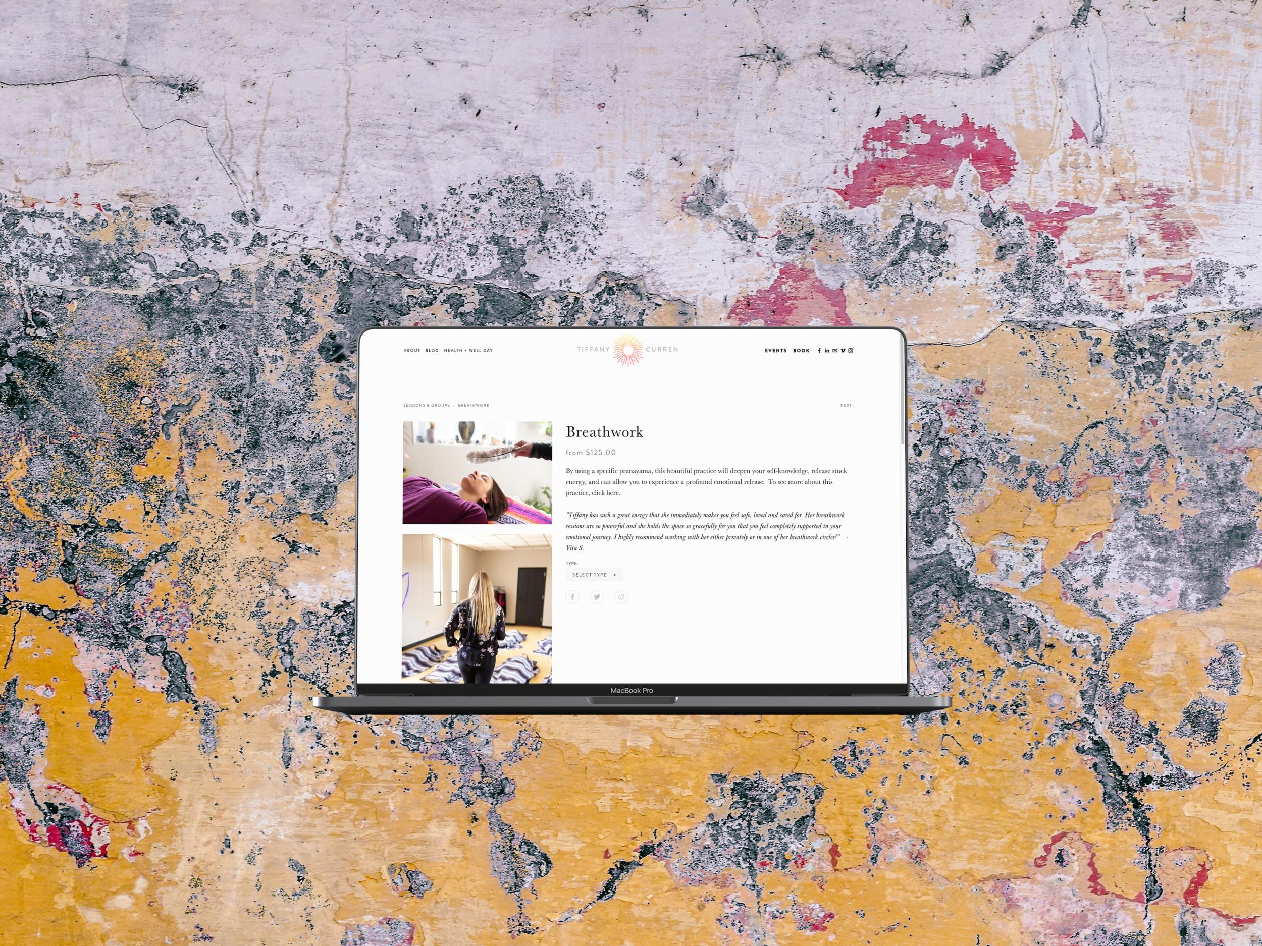 Tiffany Curren - Web Design / Branding / Newsletter