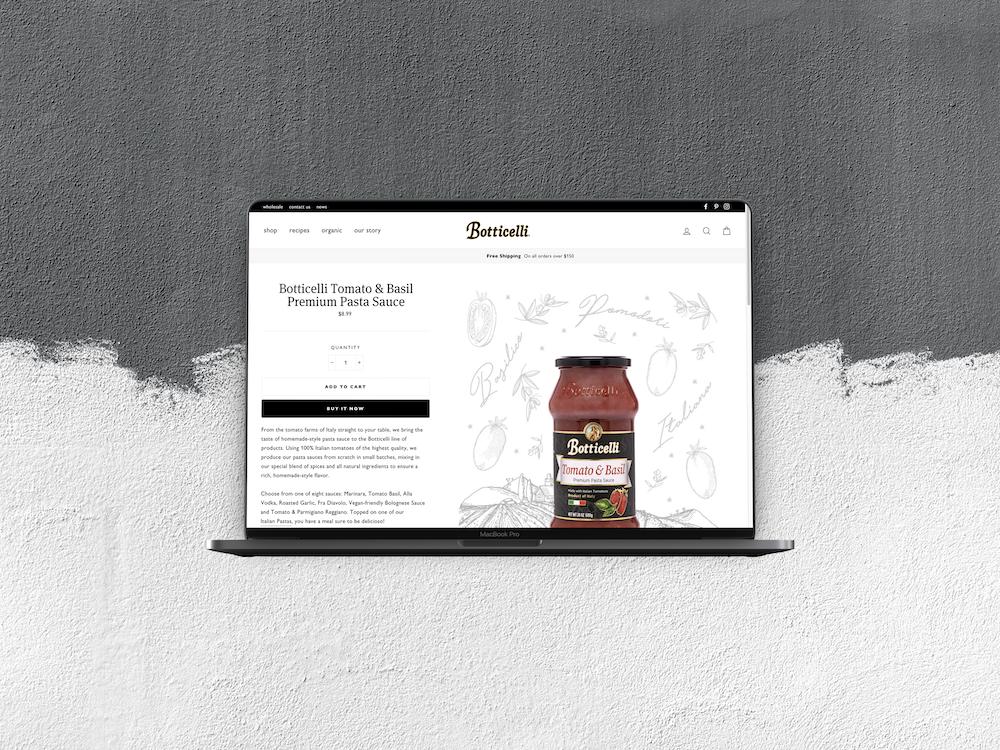 Botticelli Foods - Web Design / Branding