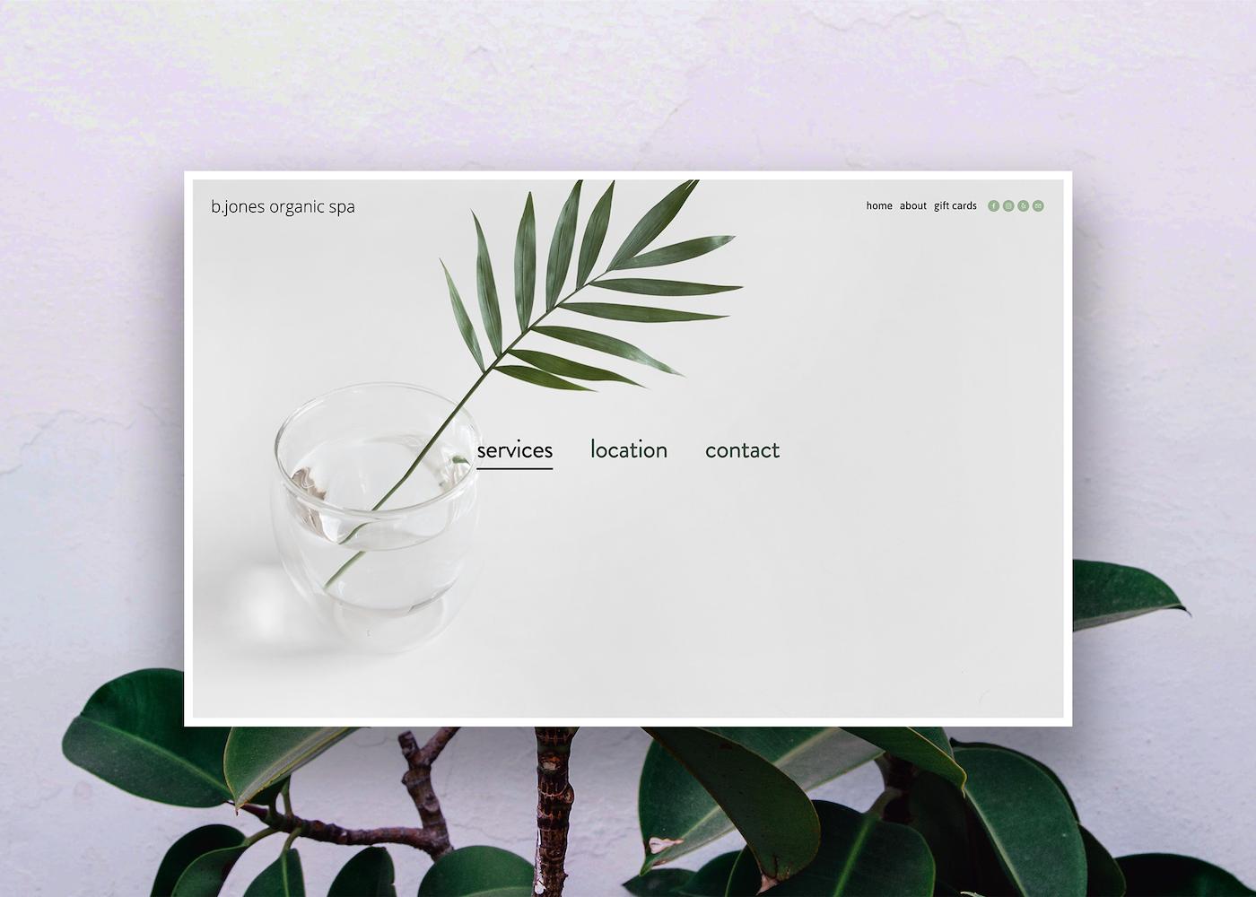 b.Jones Organic Spa - Branding / Web Design / Newsletter / Social Media