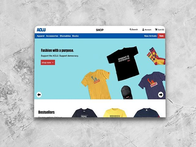"""Decided to have some fun and do a quick afternoon build-out with the express purpose of creating a non-profit merchandise shopping experience that is reminiscent of a high-end apparel website. Naturally, the ACLU was top of my list. Incorporating """"shop the look"""", collaborative elements, and testimonial call outs is paramount to increasing conversions and getting sales in the competitive, fast-paced fashion industry.  Are you a member of a non-profit looking for a modern mock-up? Shoot me a message, I'm always willing to help.  NOTE: The Everlane x ACLU collaboration is entirely fictional, as are other aspects I've added to this design. For an accurate & legitimate look at the ACLU's website please visit shop.aclu.org.  #ux #uxdesign #uxdesigner #uxdesignmastery #uxui #uxdesigners #nonprofit #nonprofitorganization #nonprofits #nonprofitlife #webdesigner #webdesigners  #nonprofitmarketing  #nonprofitfundraising #brooklyn #brooklynstartups #startups #startupstory"""
