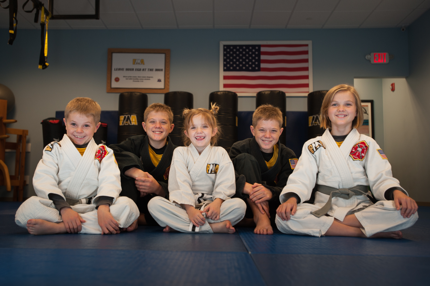 Kristie's 5 children all train martial arts too! Photo credit to Julio Culiat.