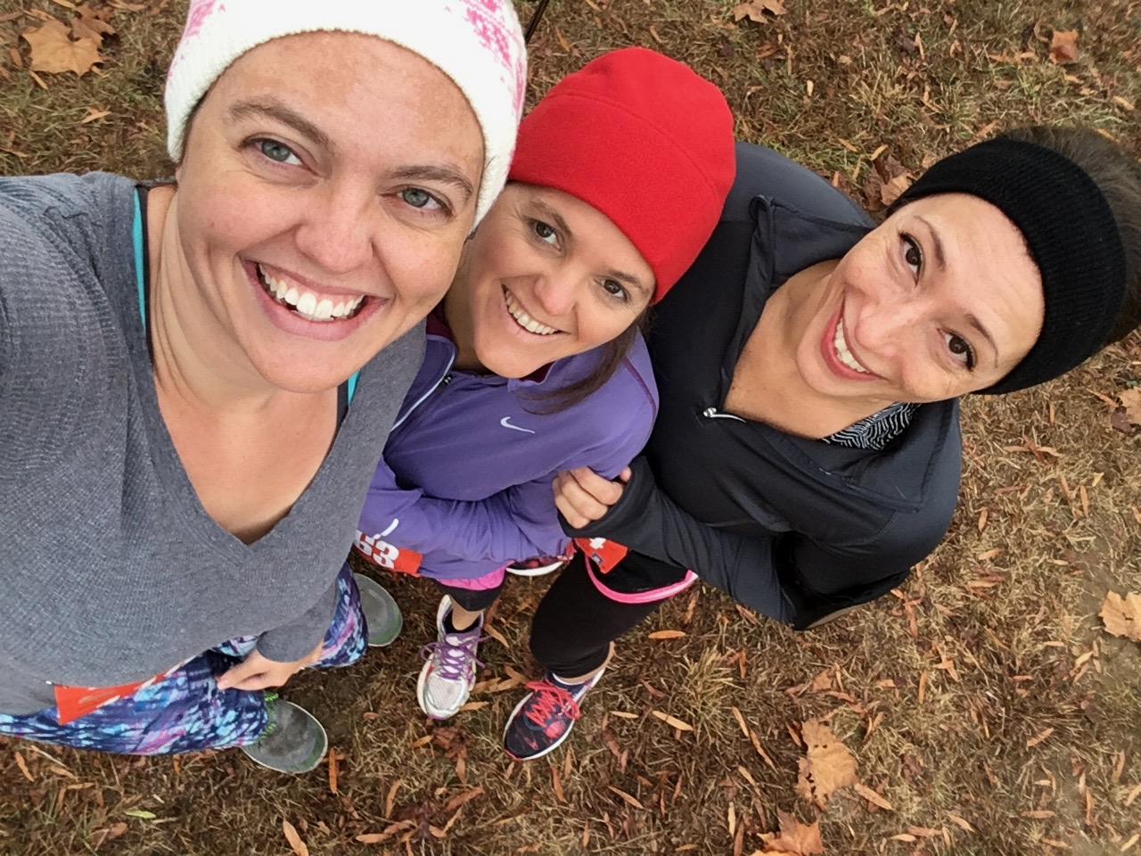 Brittany with a couple of her closest friends and training partners, Kristie Fox and Linda Davis, before running in the Secret City Half Marathon.