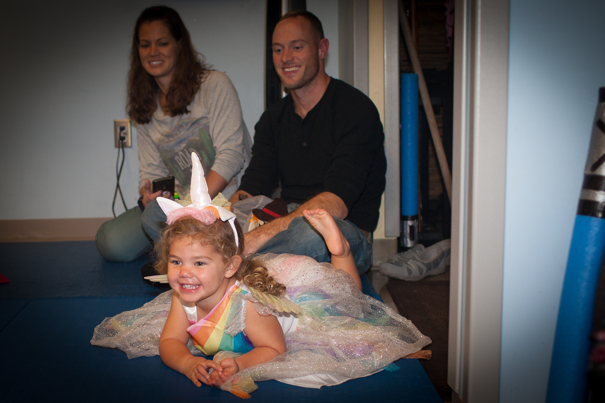 Matt, with his wife, Crystal, and their daughter, Wylie, at last year's PMA Halloween party.