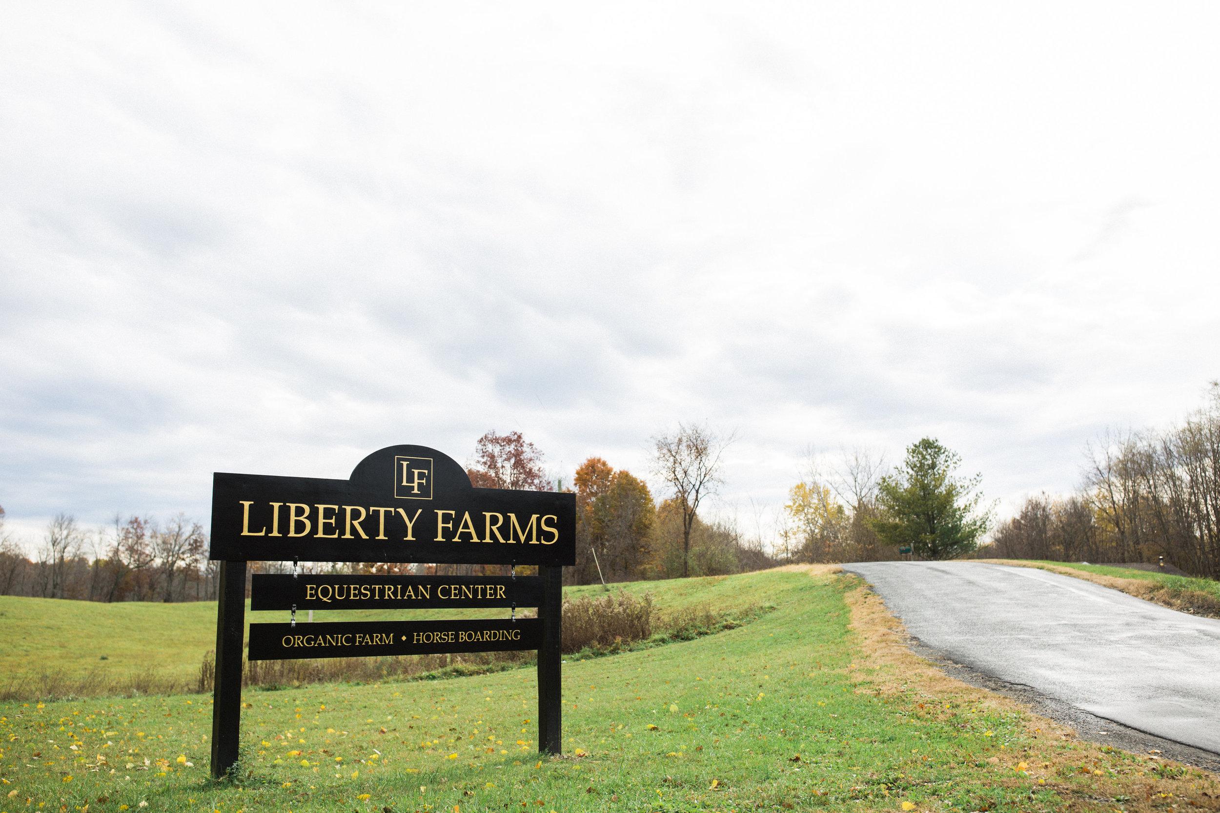 Liberty Farms Sign